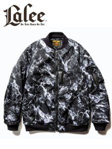 <img class='new_mark_img1' src='https://img.shop-pro.jp/img/new/icons1.gif' style='border:none;display:inline;margin:0px;padding:0px;width:auto;' />CALEE (キャリー)  Marble pattern MA-1 type jacket (MA-1タイプ フライトジャケット) Black