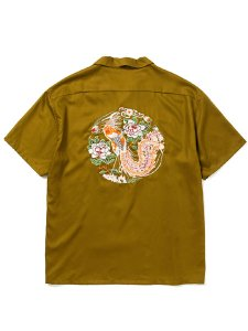 <img class='new_mark_img1' src='https://img.shop-pro.jp/img/new/icons43.gif' style='border:none;display:inline;margin:0px;padding:0px;width:auto;' />CALEE (キャリー) Embroidery S/S rayon shirt (S/S オープンカラー レーヨンシャツ) Olive