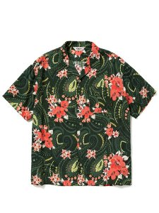 <img class='new_mark_img1' src='https://img.shop-pro.jp/img/new/icons43.gif' style='border:none;display:inline;margin:0px;padding:0px;width:auto;' />CALEE (キャリー) Paisley pattern aloha S/S shirt (S/S レーヨン アロハ シャツ) Green