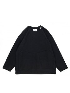 <img class='new_mark_img1' src='https://img.shop-pro.jp/img/new/icons1.gif' style='border:none;display:inline;margin:0px;padding:0px;width:auto;' />COMFY OUTDOOR GARMENT (コムフィーアウトドアガーメンツ) SLOW DRY TEE L/S 21FW (オーバーサイズ L/S Tシャツ) Black