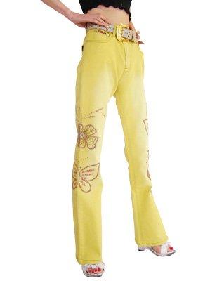 Y.BF2 オリジナル刺繍美脚カラージーンズ