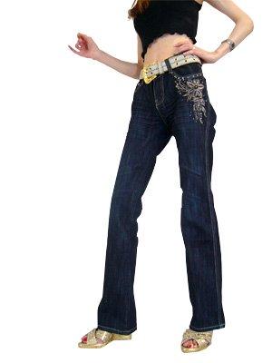 GK1-3 ゴールド刺繍入りジーンズ