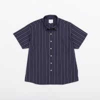 VICTIM / S/S BIG STRIPE SHIRTS (NAV) 2019 SS 先行御予約