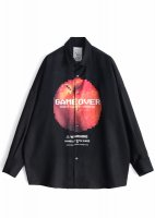 <img class='new_mark_img1' src='//img.shop-pro.jp/img/new/icons20.gif' style='border:none;display:inline;margin:0px;padding:0px;width:auto;' />SHAREEF / 'DOT APPLE' BIG SHIRTS (Black) 30% OFF