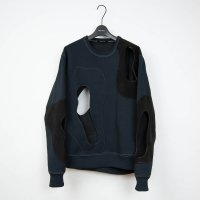 <img class='new_mark_img1' src='//img.shop-pro.jp/img/new/icons20.gif' style='border:none;display:inline;margin:0px;padding:0px;width:auto;' />PORTVEL / PERFORATION CREWNECK SWEAT SHIRT (Black) 30% OFF