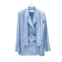 MURRAL / Long lapel slit sleeve jacket  ( Light blue )