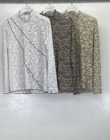 MURRAL / STRETCH LACE TOP  ( gray)