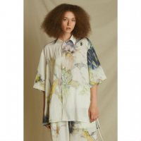 WIZZARD / H/S PRINT SLIT SHIRTS / IVORY