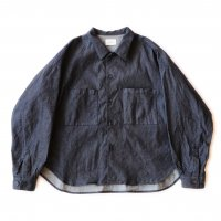 <img class='new_mark_img1' src='https://img.shop-pro.jp/img/new/icons13.gif' style='border:none;display:inline;margin:0px;padding:0px;width:auto;' />superNova / Big shirt Jacket 弐 - 9oz tencel denim / Indigo