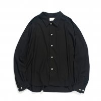 <img class='new_mark_img1' src='https://img.shop-pro.jp/img/new/icons13.gif' style='border:none;display:inline;margin:0px;padding:0px;width:auto;' />superNova / Big shirt - Gabardine / Black