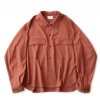 <img class='new_mark_img1' src='https://img.shop-pro.jp/img/new/icons13.gif' style='border:none;display:inline;margin:0px;padding:0px;width:auto;' />superNova / CPO shirt Jacket - Gabardine / Orange