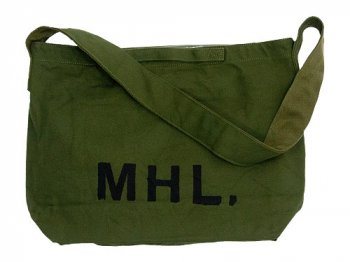 MHL. HEAVY CANVAS SHOULDER BAG 180OLIVE