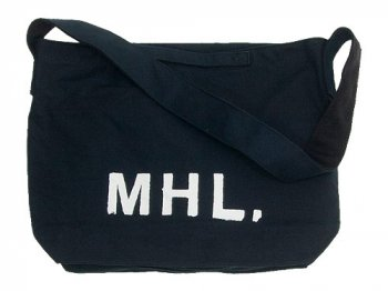 MHL. HEAVY CANVAS SHOULDER BAG 121DARK NAVY