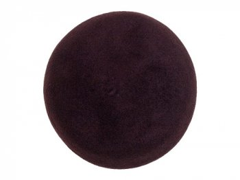 StitchandSew wool beret BROWN