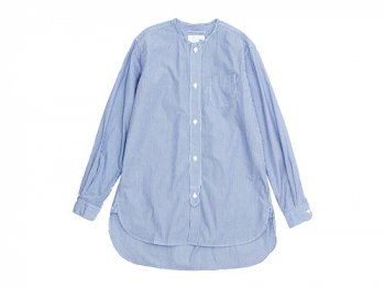 blanc no collar long shirts STRIPE