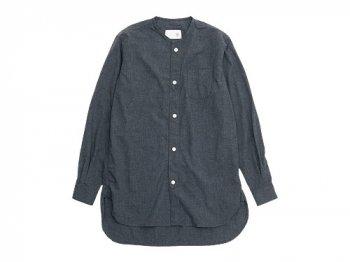 blanc no collar long shirts TOP CHARCOAL