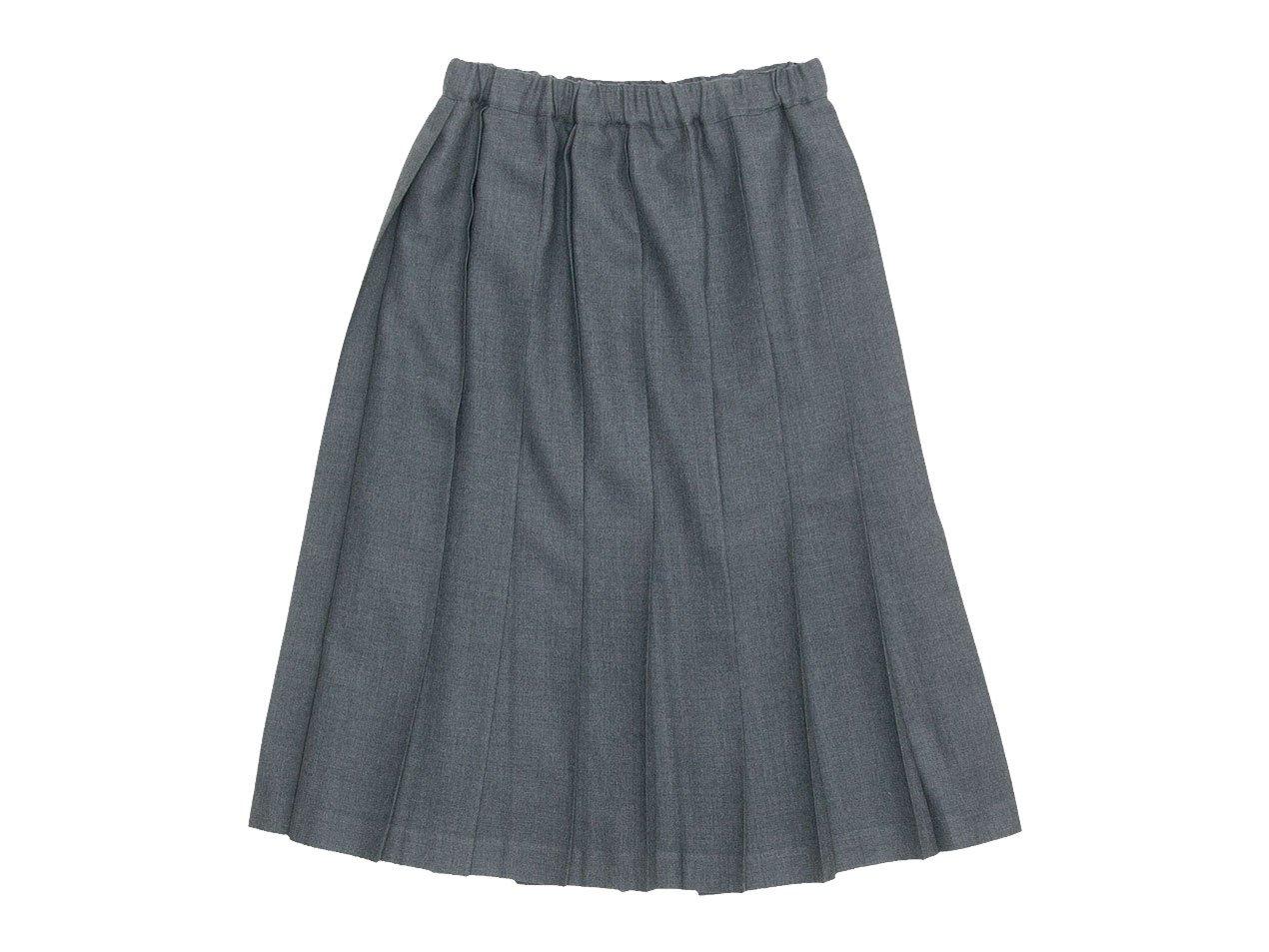 Charpentier de Vaisseau Belle プリーツスカート Wool GRAY