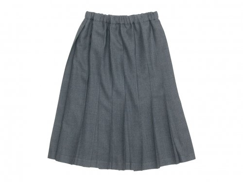 Charpentier de Vaisseau Belle Pleated Skirt Wool GRAY