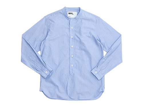 MHL. PINPOINT SHIRTING P/O SHIRTS 112BLUE�̥�󥺡�