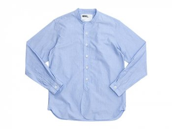 MHL. PINPOINT SHIRTING P/O SHIRTS 112BLUE〔メンズ〕