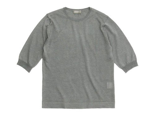 MARGARET HOWELL COTTON RAMIE CASHMERE HALF SLEEVE KNIT 022LIGHT GRAY�̥�ǥ�������