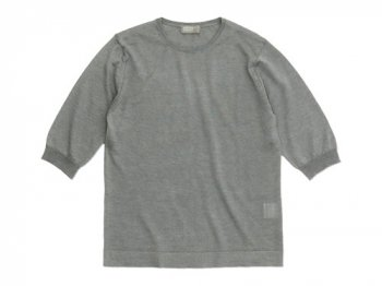 MARGARET HOWELL COTTON RAMIE CASHMERE HALF SLEEVE KNIT 022LIGHT GRAY〔レディース〕