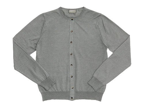 MARGARET HOWELL COTTON RAMIE CASHMERE CREW NECK CARDIGAN 022LIGHT GRAY�̥�ǥ�������