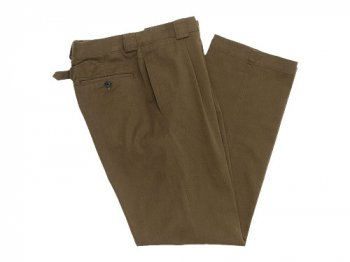 MARGARET HOWELL RAISED DRILL PANTS 180KHAKI 〔メンズ〕