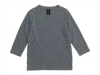 homspun 天竺七分袖Tシャツ TOPグレー