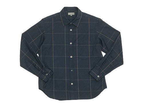 MARGARET HOWELL OVERSIZED CHECK SHIRTS 023CHARCOAL �̥�󥺡�