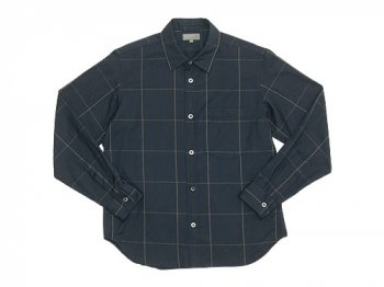 MARGARET HOWELL OVERSIZED CHECK SHIRTS 023CHARCOAL 〔メンズ〕