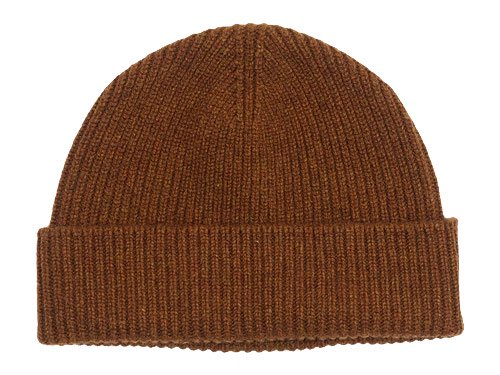 MARGARET HOWELL MERINO CASHMERE KNIT CAP 051BROWN 〔メンズ〕