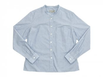 MARGARET HOWELL SUPERFINE END ON END NO CALLOR SHIRTS 110BLUE〔レディース〕