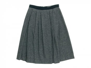 MARGARET HOWELL WOOL LINEN TWEED SKIRT 022GRAY〔レディース〕