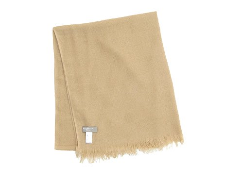 MARGARET HOWELL WOOL CASHMERE SCARF 054CAMEL