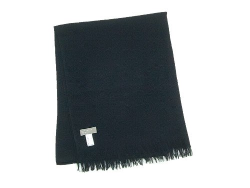 MARGARET HOWELL WOOL CASHMERE SCARF 010BLACK