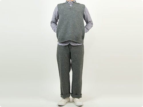 ENDS and MEANS Grandpa Knit Vest GRAY