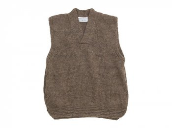 ENDS and MEANS Grandpa Knit Vest BROWN