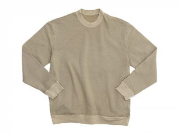 THE HINOKI オーガニックコットン裏起毛 スウェットシャツ BEIGE