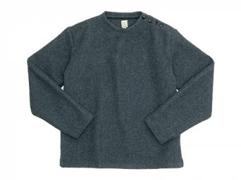 TATAMIZE C/NECK WOOL SHIRT GRAY