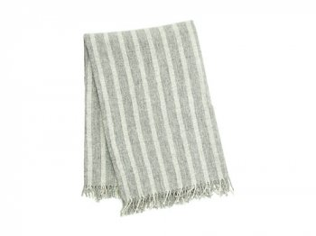 TOUJOURS Fringe Stole LIGHT GRAY