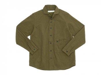 nisica ワイドカラーシャツジャケット コットン KHAKI