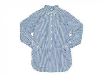 ohh!nisica オオニシカボタンダウンシャツ ストライプ BLUE
