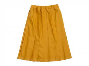 Charpentier de Vaisseau Pleated Skirt Wool YELLOW