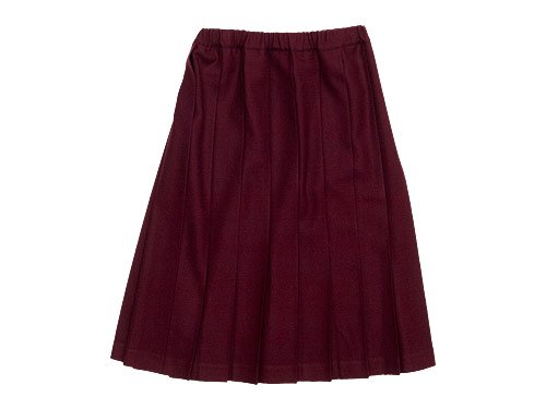 Charpentier de Vaisseau Pleated Skirt Wool WINE