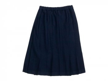 Charpentier de Vaisseau Belle Pleated Skirt Wool NAVY