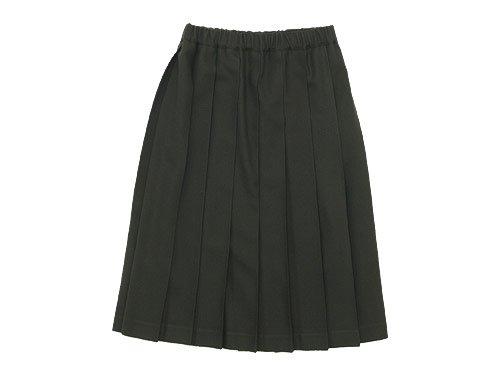 Charpentier de Vaisseau プリーツスカート Wool OLIVE