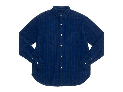 maillot nel stripe regular shirts NAVY
