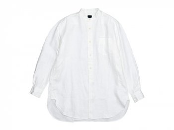 maillot winter linen stand long shirts WHITE