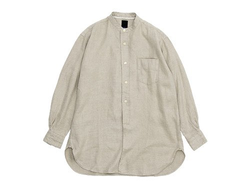 maillot winter linen stand long shirts ECRU